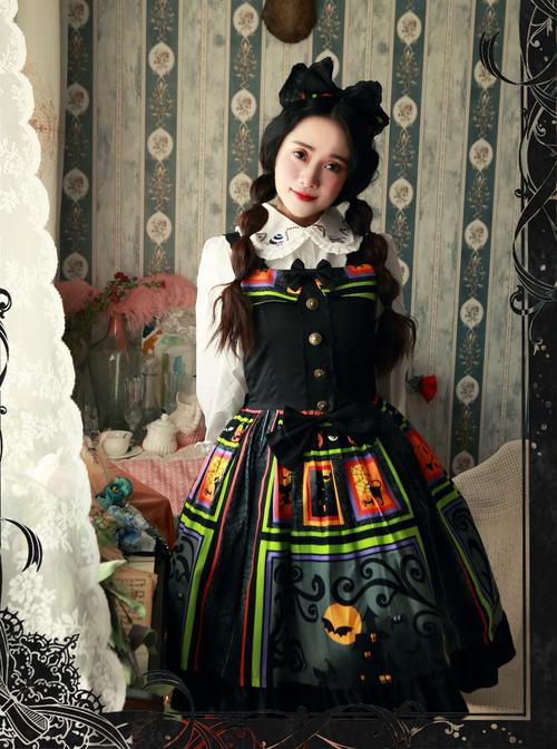 Magic Tea Party Black Spider Web Witch Castle Halloween Gothic Lolita Hair Hoop