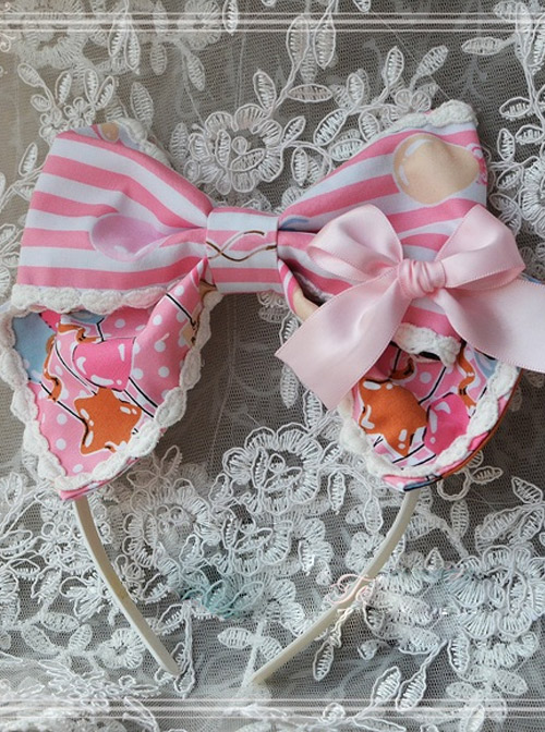 Magic Tea Party Balloon Bear Printing Sweet Lolita Hair Hoop