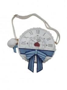 Alice Clock Printing Lace Round Classic Lolita Bag