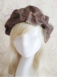 Magic Dictionary Series Plaids Printing Classic Lolita Hat
