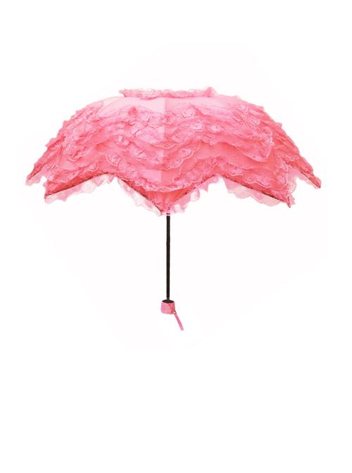 Three Colors Crescent Lace Classic Lolita Fold Umbrella