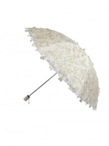 Three-dimensional Embroidery Lace Flower Sequins Classic Lolita Ultraviolet-proof Fold Umbrella
