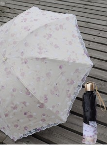 Embroidered Lace Ultraviolet-proof Classic Lolita Fold Umbrella