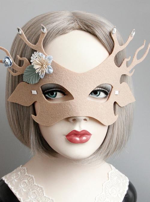Elk Dancing Party Christmas Lolita Mask
