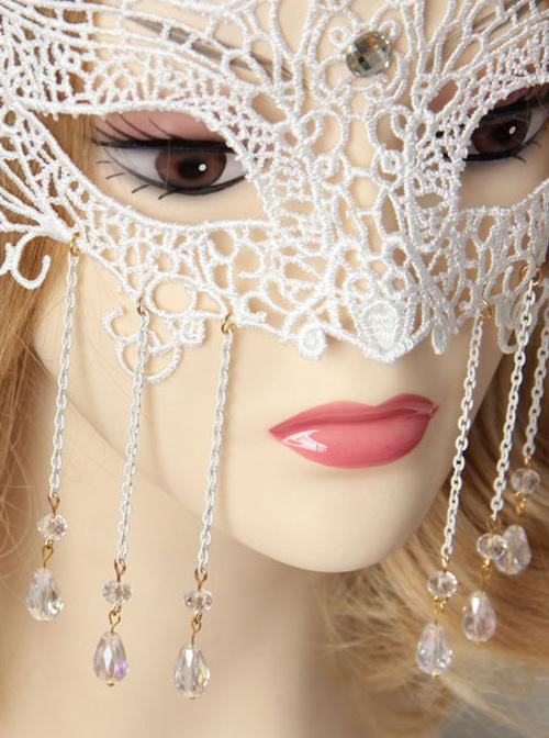 White Lace Elegant Classic Lolita Christmas Mask