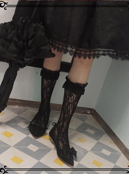 Elegant Lace Classic Lolita Medium Stockings