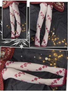 Elegant Petal Translucent Classic Lolita Pantyhose