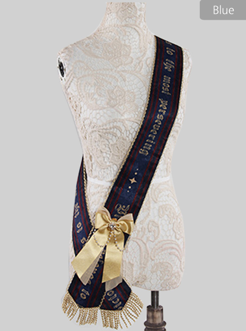 Fog-moon And Crown Series Classic Lolita Ribbon With Detachable Bowknot