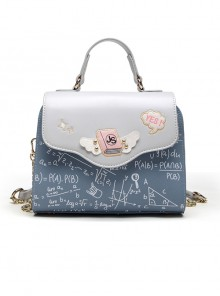 Light Blue Printing Elegant Classic Lolita Shoulder Bag