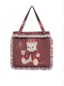 Coronation Bear Series Printing Classic Lolita Shoulder Bag