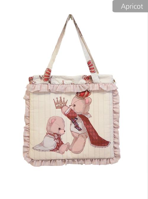 Coronation Bear Series Printing Classic Lolita Shoulder Bag