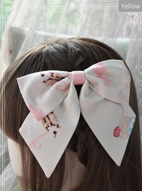 Magic Tea Party Ice Cream Party Series Printing Sweet Lolita Hair Clip