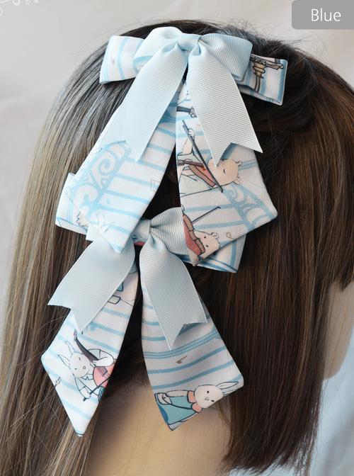 Magic Tea Party Wonderland Quartet Series Printing Sweet Lolita Hair Clips