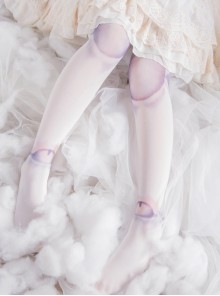White SD Doll Spherical Joint Printing Lolita Pantyhose
