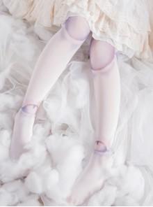 White SD Doll Spherical Joint Printing Lolita Pantyhose