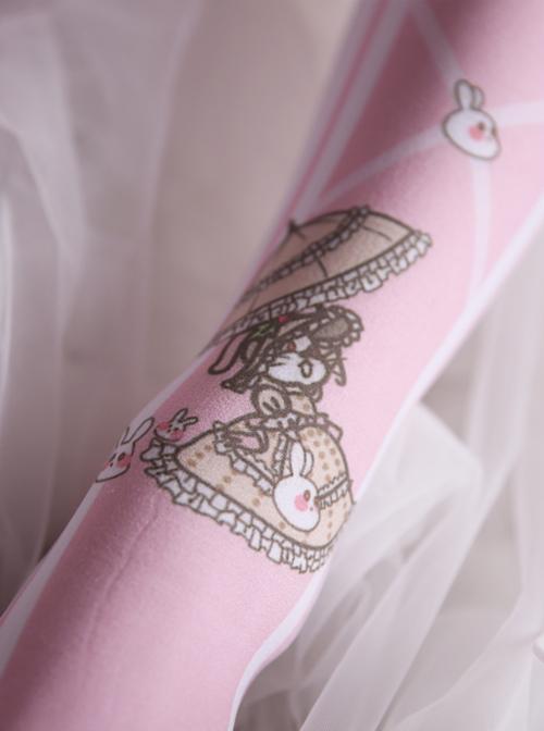 Cute Rabbit Pink Sweet Lolita Thigh Socks