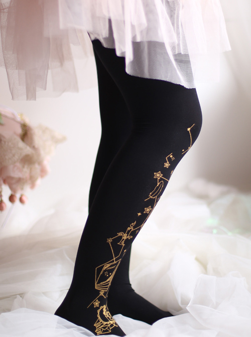 Bronzing Magic Book Lolita Black Or White Pantyhose