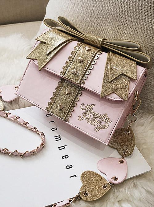 Sequin Bowknot Exquisite Gift Box Sweet Lolita Shoulder Bag