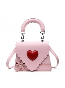 Gift Box Bowknot Love Heart Wavy Lace Sweet Lolita Shoulder Bag