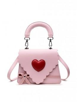 Gift Box Bowknot Love Heart Wavy Lace Sweet Lolita Shoulder Bag