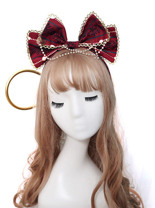 Alice's Christmas Series KC Printing Classic Lolita Bowknot Head Hoop