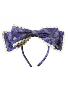 Aristocratic Cat Printing KC Bowknot Classic Lolita Head Hoop