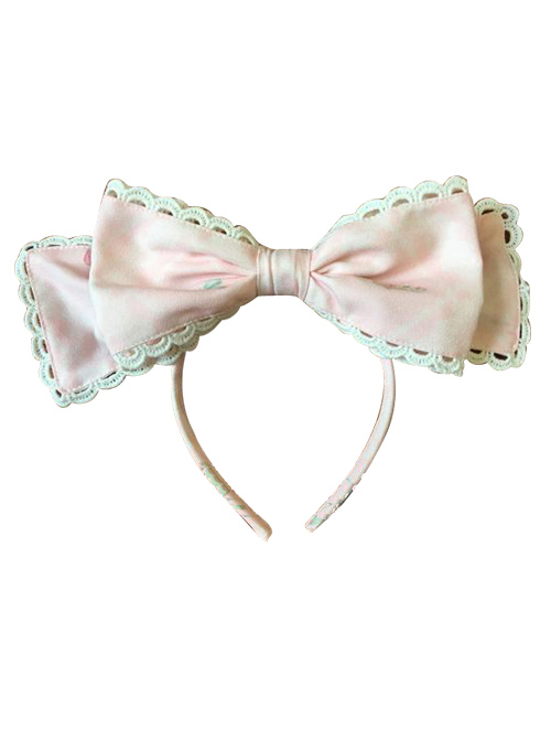 Aristocratic Cat Printing KC Bowknot Classic Lolita Head Hoop