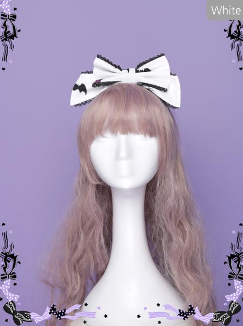 Halloween Dark Bat Coffin Printing KC Lace Gothic Lolita Head Hoop