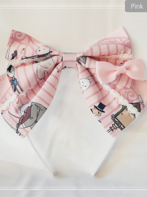 Magic Tea Party Wonderland Quartet Series Printing Sweet Lolita Hair Hoop