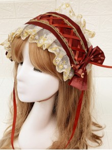 Time Machine Heart Series Printing Retro Classic Lolita Hair Band