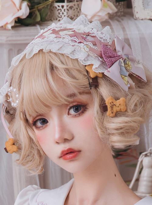 Springtime Hand Stick Series Printing Classic Lolita Hairband