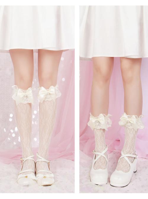 Lolita Wedding Series Bowknot Lace Classic Lolita Knee-socks