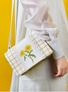 Sunflower Plaid Gentle Lace Lolita Shoulder Bag