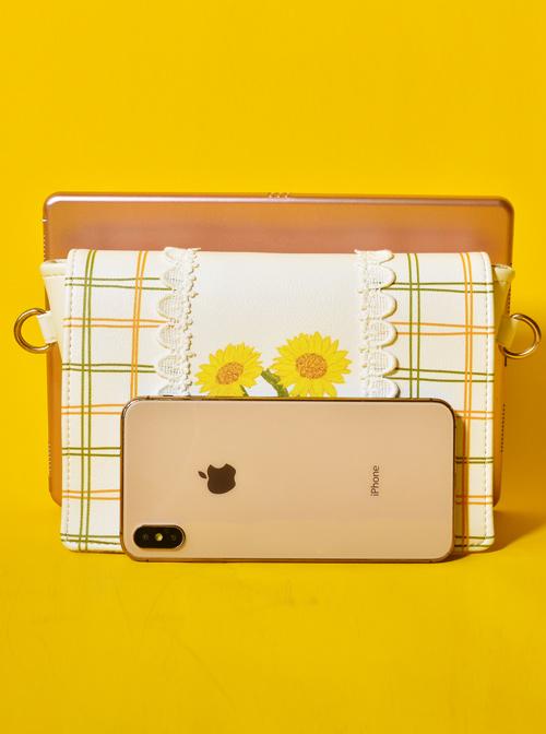 Sunflower Plaid Gentle Lace Lolita Shoulder Bag