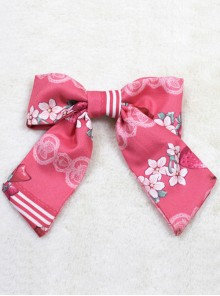 Strawberry Rabbit Series Red Printing Sweet Lolita Hair Clip