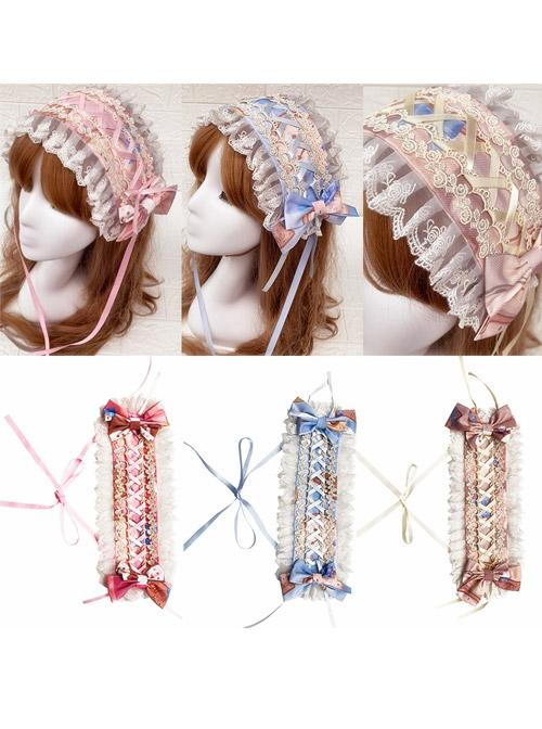 Milk Sweetheart Series Printing Sweet Lolita Hairband
