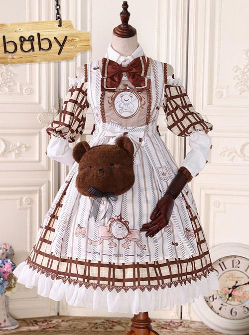 Fairy Tale Dessert Chefs Series Cute Bears Short Plush Sweet Lolita Chain Bag