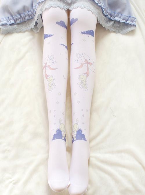 Cute Envelope Bear Printing Sweet Lolita Pantyhose