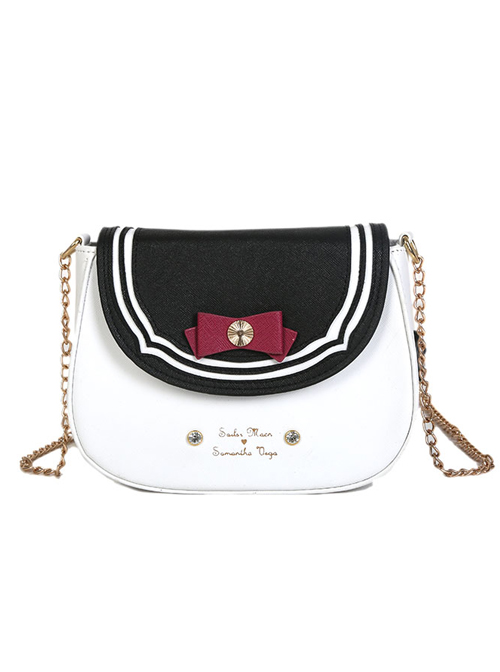 Multiple Colors Cute Bowknot Saddle Bag School Lolita Shoulder Bag