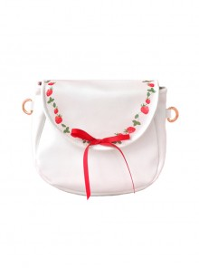 Strawberry Vine Printing Bowknot Pearlescent Sweet Lolita Shoulder Bag