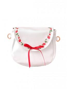 Strawberry Vine Printing Bowknot Pearlescent Sweet Lolita Shoulder Bag