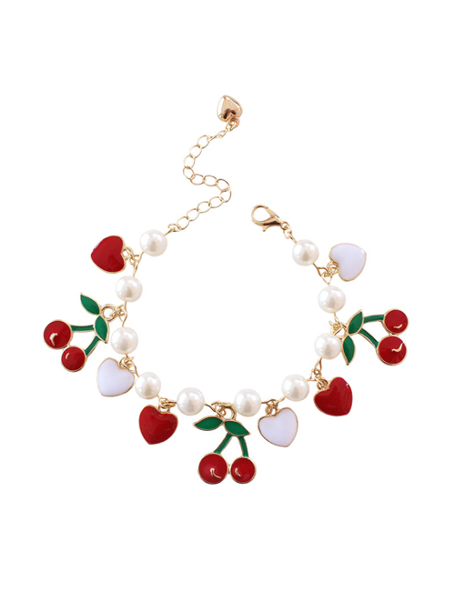 Cute Cherry Pendant Pearl Sweet Lolita Bracelet