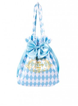 The Alice Tea party Series Blue Bowknot Sweet Lolita Tote Bag