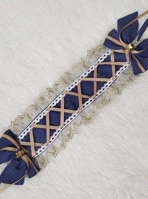 Little Prince Series Printing Bowknot Lace Classic Lolita Hairband