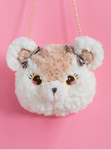 Plush Bear And Plush Bunny Cute Bow Sweet Lolita Shoulder Bag