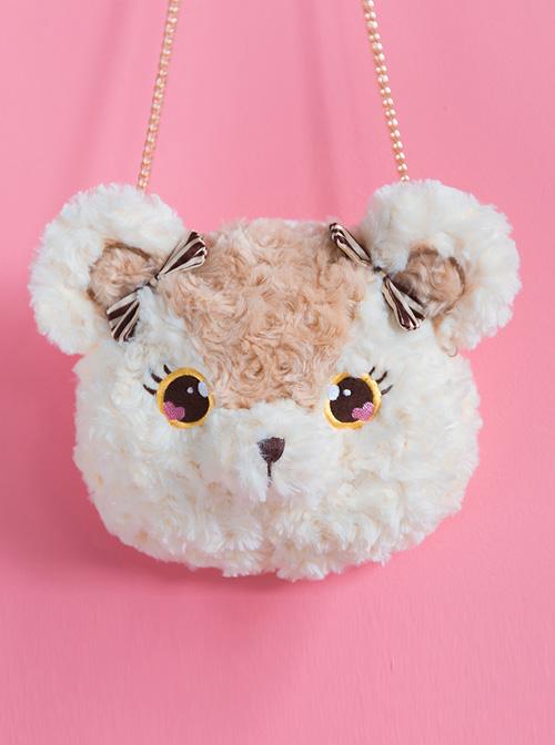 Plush Bear And Plush Bunny Cute Bow Sweet Lolita Shoulder Bag