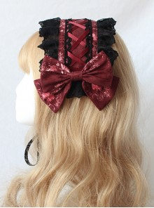 Chandelier Series Silk Ribbon Bowknot Sweet Lolita Hairband