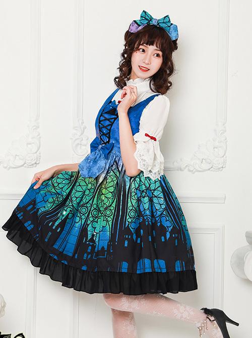 Magic Tea Party City Of Aurora Series KC Bowknot Classic Lolita Hair Hoop