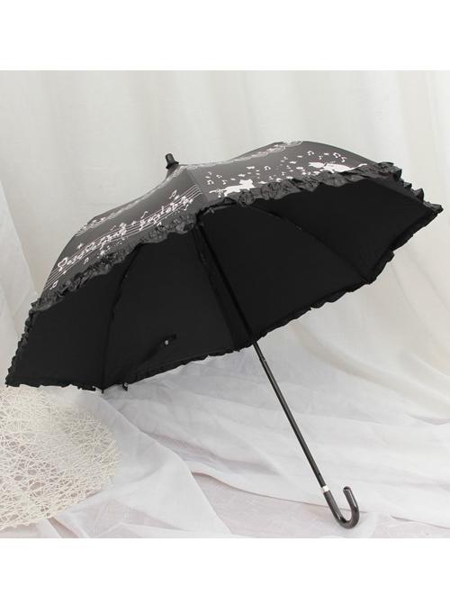 Cute Cat Printing  Sweet Lolita Folding All-weather Umbrella