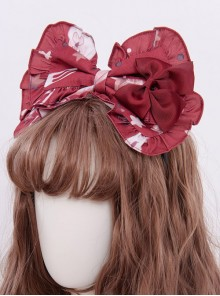 Magic Tea Party Chocolate Rabbit Series KC Bowknot Sweet Lolita Hair Hoop